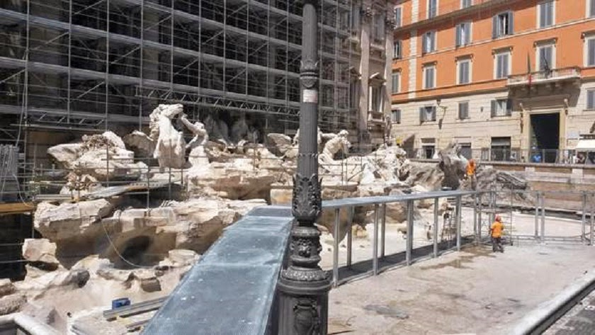 Italy: Restoration begins on Trevi Fountain