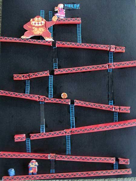 Donkey Kong Papercraft 25m Diorama