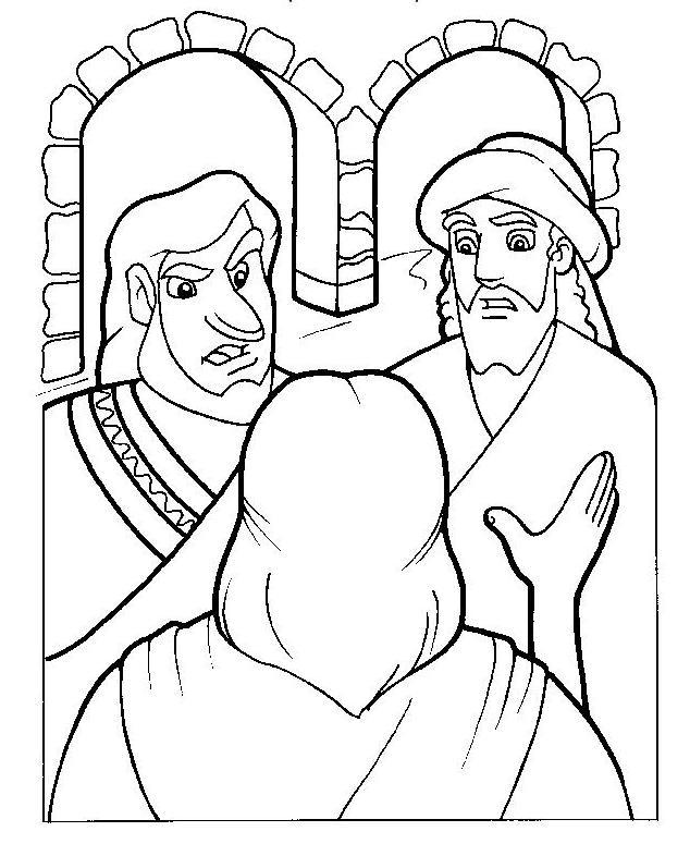 Rechazo de Jesús en Nazareth para colorear