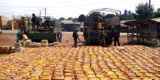 National Gendarmerie: Illicit Fuel, Goods Impounded in Bamenda