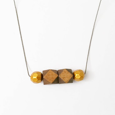 nacklace #wood #木 #頸飾