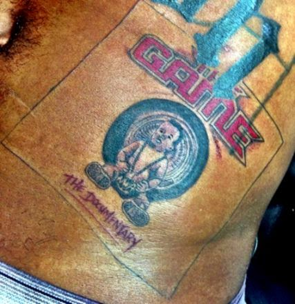 The Game Gets Dr Dre 39Chronic39 Tattoo  Rap Up