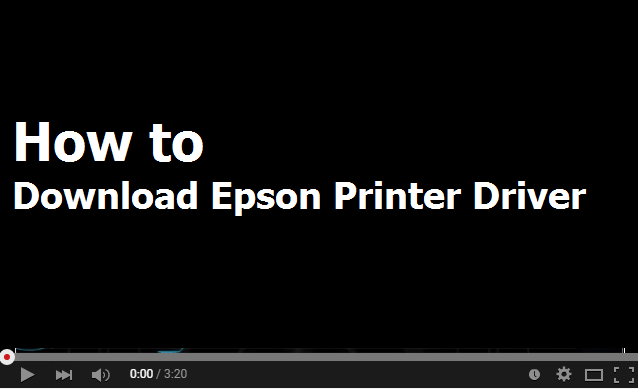 How to download Epson L100 printers driver