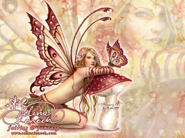 Red Fairy Butterfly, Fairies Girls 2