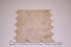 Flooring, Flooring & Mosaics, Herringbone, Interior, Limestone, Mosaic, Natural, Stone, Tile