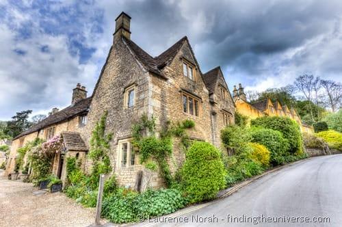 Cotswold village Castle Combe house