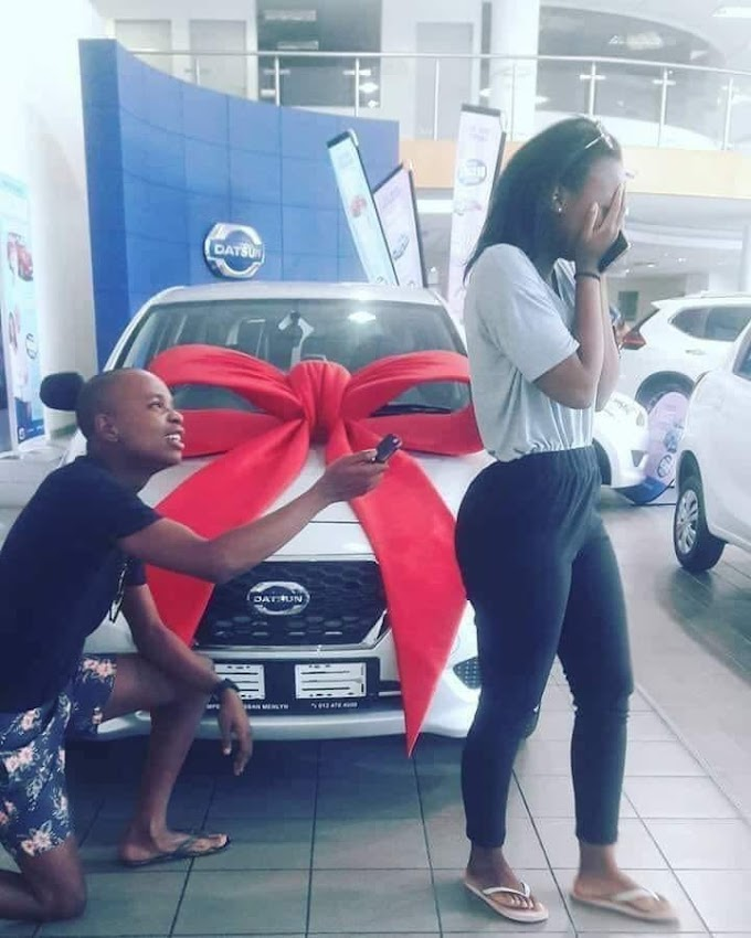 Xhosa girl rejects Datsun Go as a present from boyfriend - She wants BMW