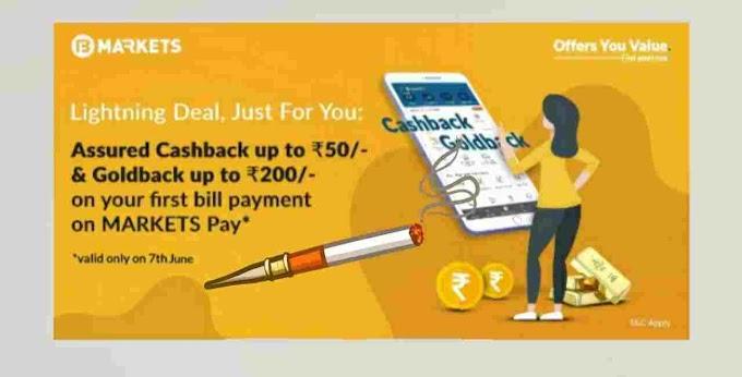 Bajaj Bmarket offer Get Assured Cashback Rs.50