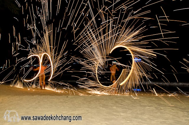 Fire show from Koh Chang Paradise Resort & Spa