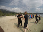 Training on the beach - Cheung Sha Beach on Lan Tau Island.
