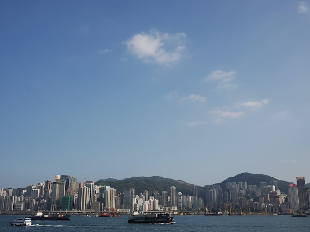 Hong Kong Island on a clear day