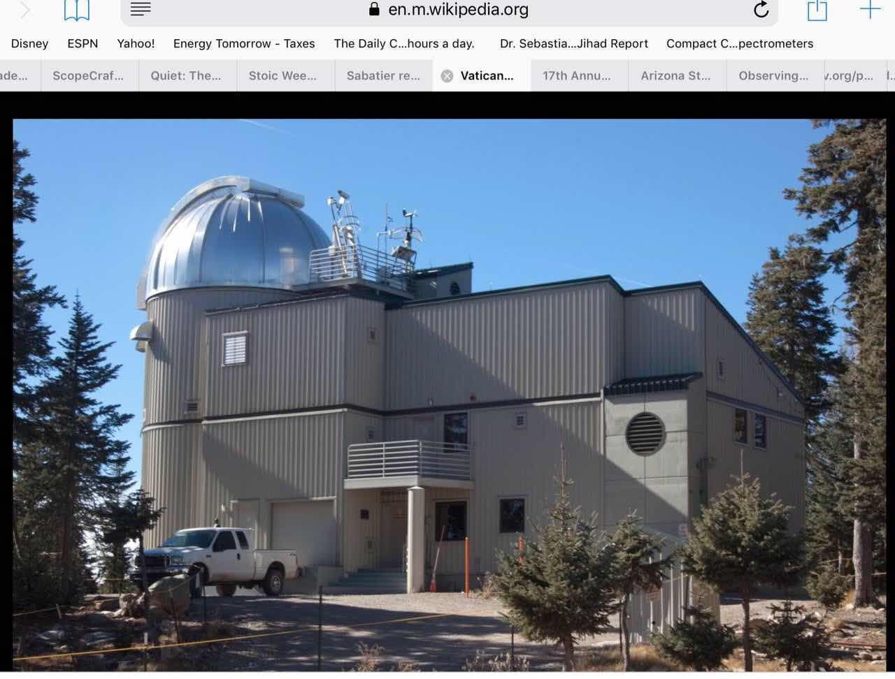 Vatican Advanced Technology Observatory on Mt Graham (Source: Wikipedia)