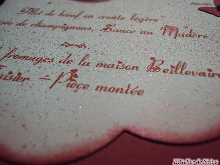 261 - Menus Mariage  Maria et François 23 mai 2015