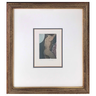 Paolo Baruffaldi Signed Male Nude Aquatint