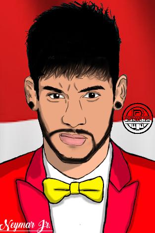 Face Kartun Neymar Jr