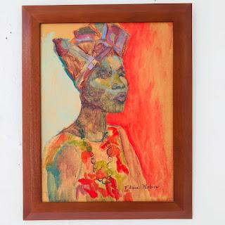 Elsie Rubin Signed Oil Portrait Painting #2