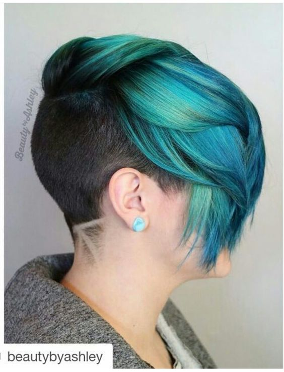 Hair:short hairstyles with different colors for 2018 2
