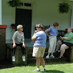 Front Porch of Willows.  Alice Hix in green shirt