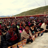 Massive religious gathering and enthronement of Dalai Lama's portrait in Lithang, Tibet. - l65.JPG