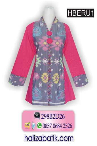 Model Baju Batik Lengan Panjang