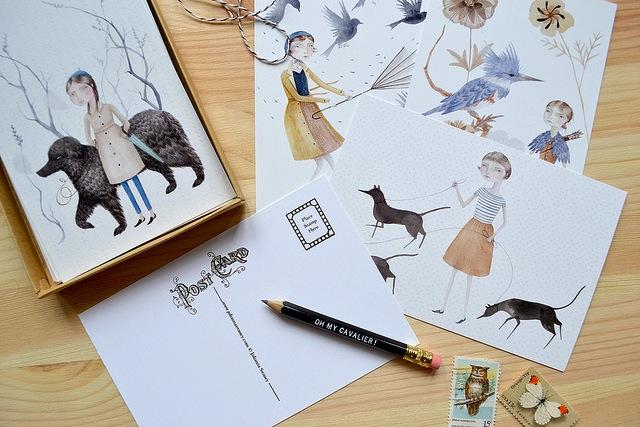 an interview with julianna swaney of oh my cavalier designer illustrator artist