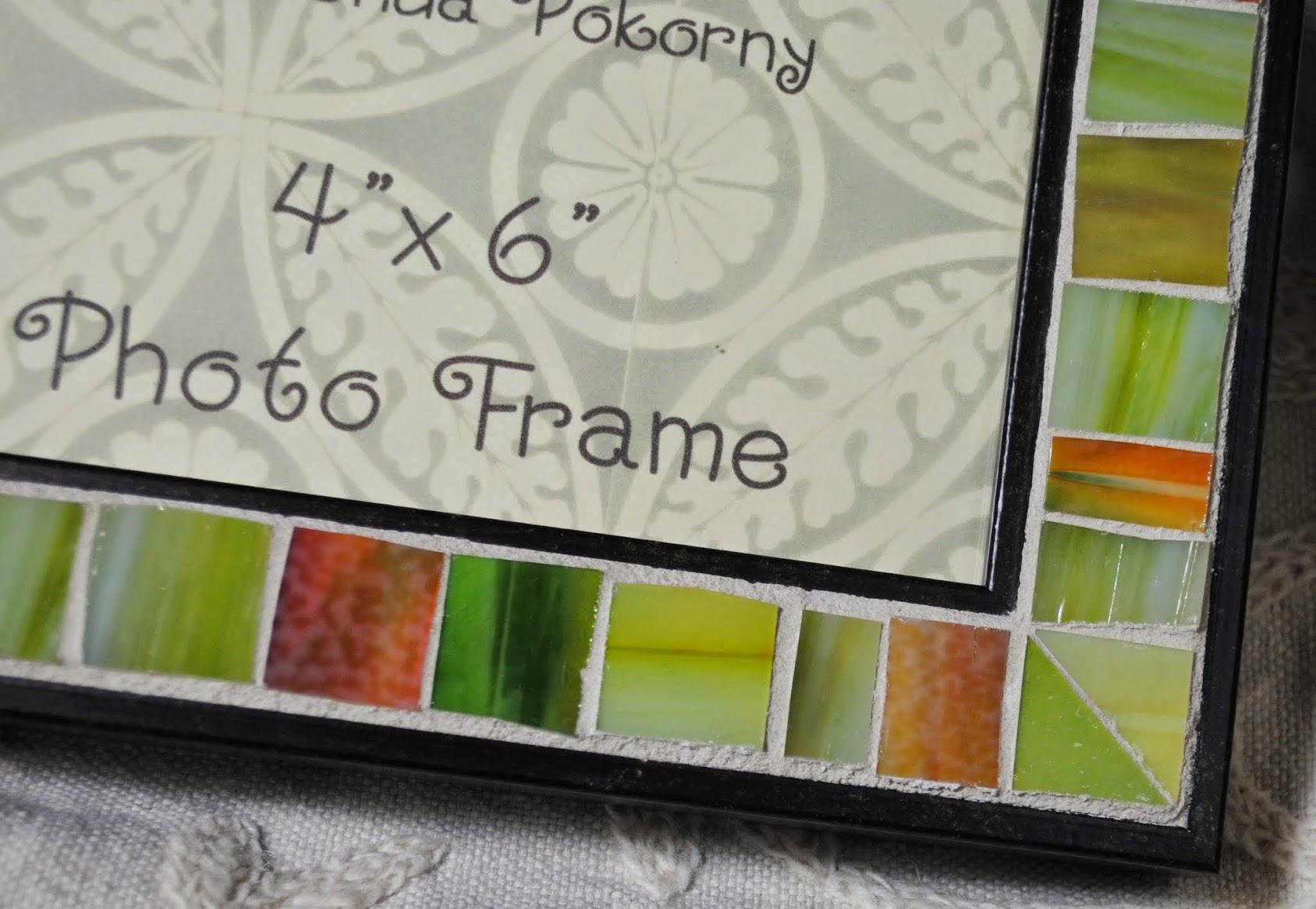 "Lime Sorbet 4"" x 6"" Mosaic Photo Frame MOF1421"