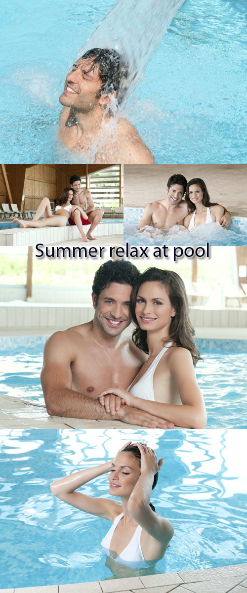 Stock Photo: Summer relax at pool