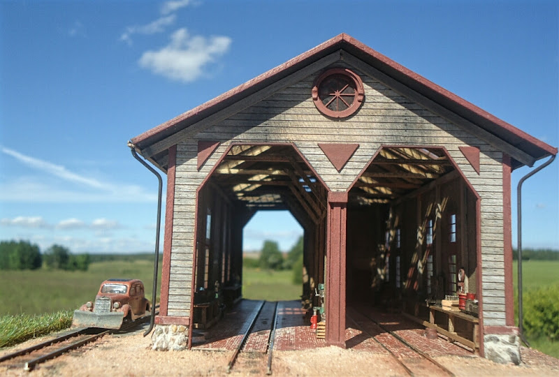 My finished john allen engine house model train forum the