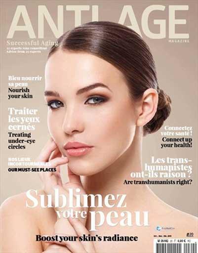 Couverture © Anti-Âge Magazine n° 20 | octobre 2015 : sublimez votre peau par notre expert le Dr. POIGNONEC