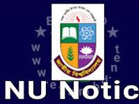 NU Notice: ২০১৭ সালের আইএসটিটি এর B.Sc(Hons) in AMT, KMT and FDT পরীক্ষার ফলাফল প্রকাশ সংক্রান্ত বিজ্ঞপ্তি।