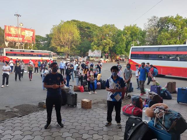 💁♂️ जम्मू काश्मीरसाठी 80 जण रवाना