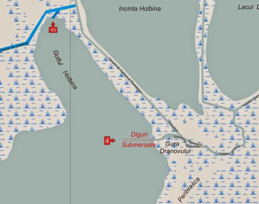 Iesiri din Delta Dunarii pe Razelm - Iesirea 4 - Canalul Dranov