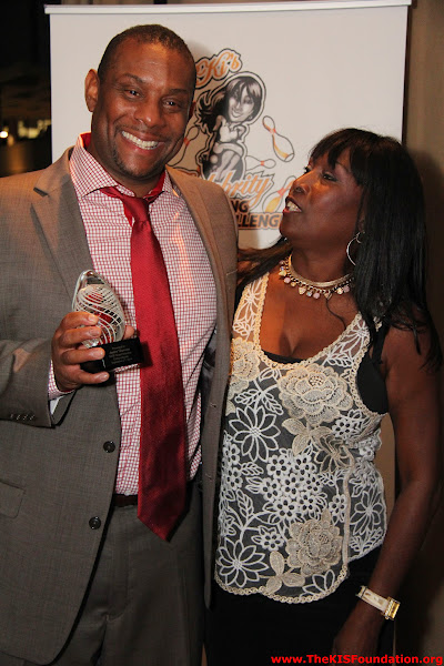 KIS Foundation Board Member of the Year, Andre' Dawson with KISF Foundation CEO, KiKi Shepard