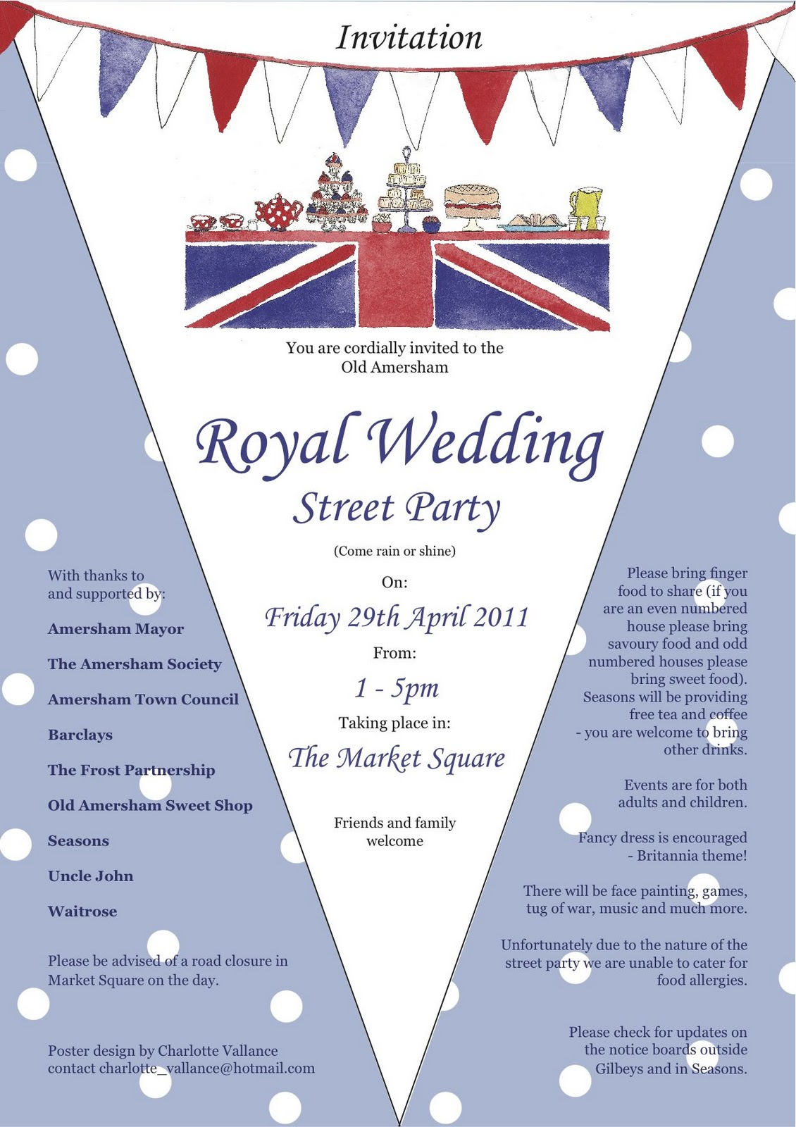 Charlotte Vallance: Royal wedding Street Party