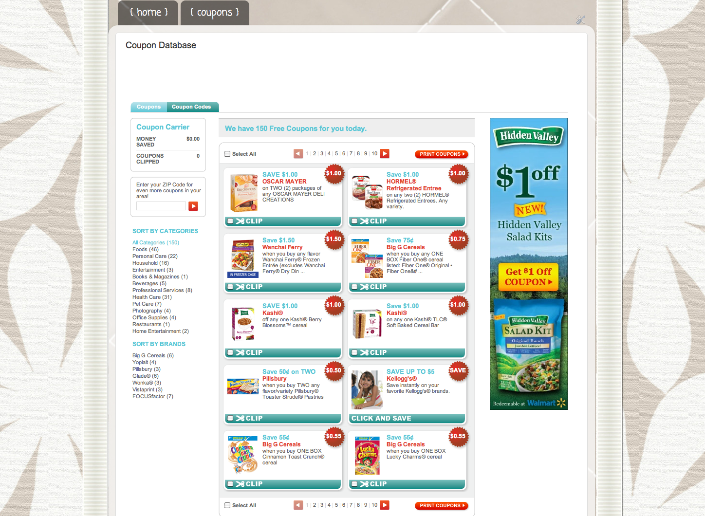 i am very excited to announce that the home sweet frugal home website now features a coupon database for printable coupons see that tab at the top of the