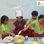 Chocolate Making Activity by Sr Kg Section at Witty World Bangur Nagar (2018-2019)