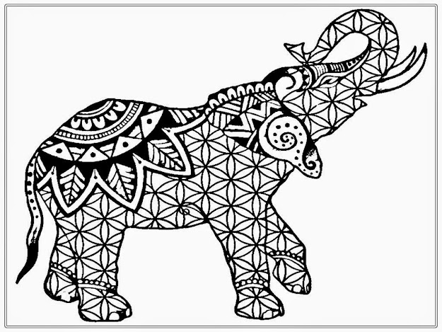 Mandala Elephant Coloring Book With Fecffbaafff