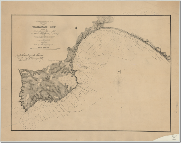 1868 map Waratah Bay SLV