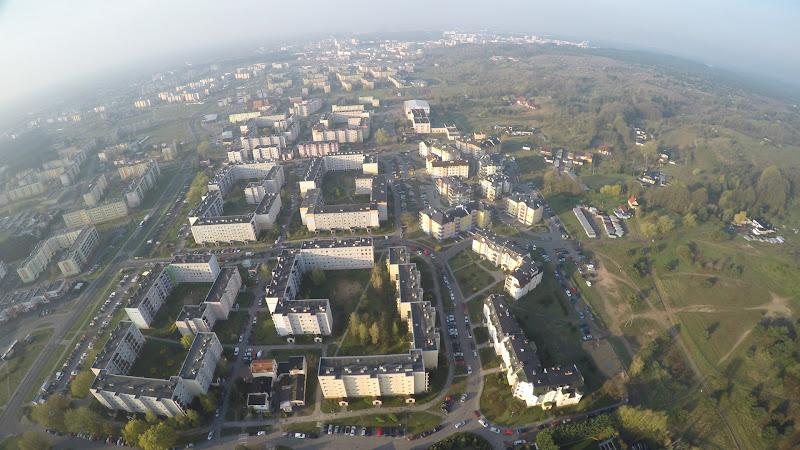 wynajem drona zdjęcia z lotu ptaka z drona Bydgoszcz, Fordon, ulica Podgórze z lotu ptaka