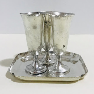 Sterling Silver Tray and Cordial Lot