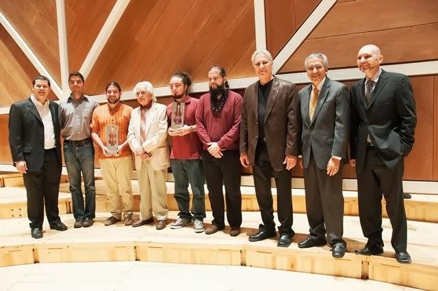 Los ganadores y el jurado de la Primera Edición del Concurso Nacional de Composición Simón Bolívar