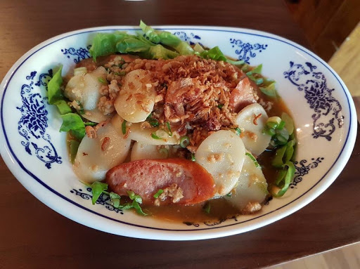 Cheesy pork sausage from Xiao Ya Tou