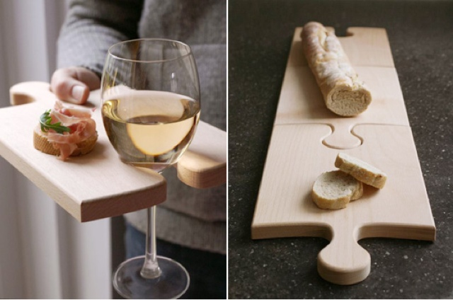 Puzzle bread board for your baguette