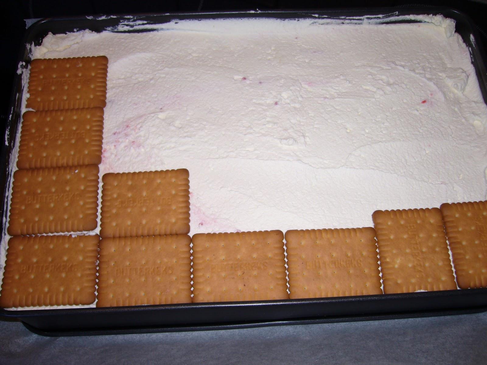 Butterkekskuchen mit pudding
