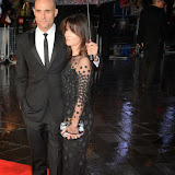 WWW.ENTSIMAGES.COM -  Mark Strong   and Liza Marshall  arriving at    58th BFI LFF - The Imitation Game - opening film at Odeon Leicester Square, London October 8th 2014A biopic of Alan Turing, which opens this year's BFI London Film Festival.                                                    Photo Mobis Photos/OIC 0203 174 1069
