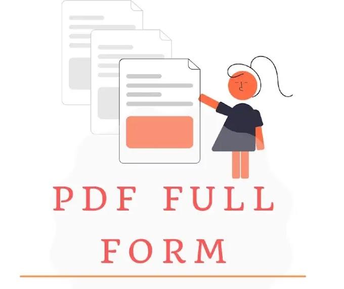 PDF full form in Hindi - PDF का अर्थ जानें