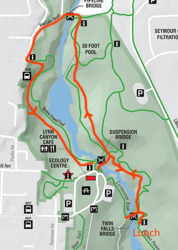 Lynn Canyon Park Map proper crops update 2017 outlines