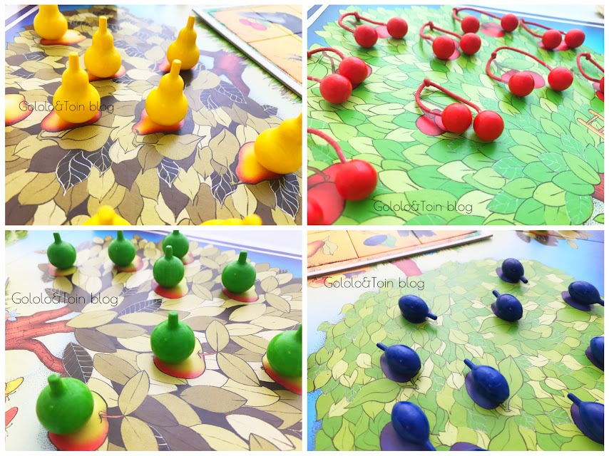 piezas del juego El frutal de Haba