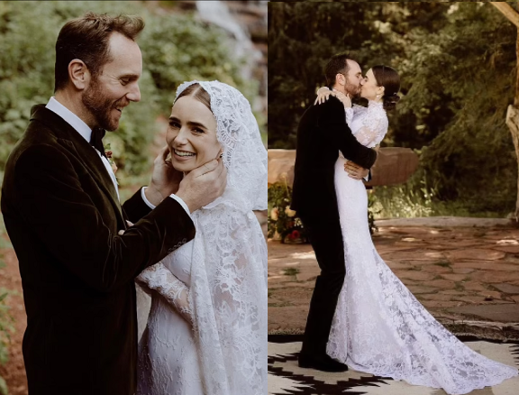 Emily In Paris Star, Lily Collins marries director fiancé Charlie McDowell in private wedding ceremony (photos)