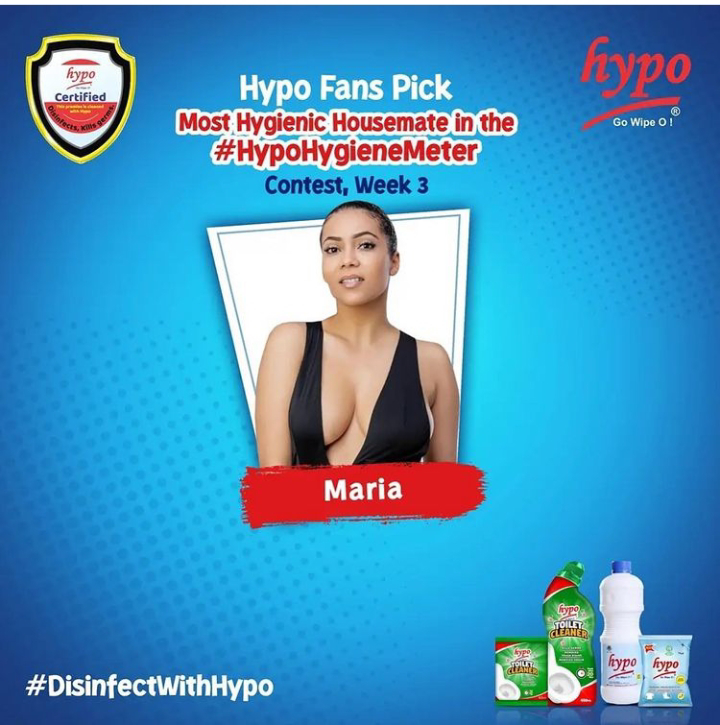 Maria emerges the winner of Hypo competition with N250k cash prize